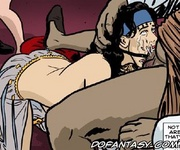 Submission comics. Slave gets mouth full of her master's cum!