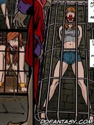 Slave girl comics. Novice redhead slave stay tied in the cell!