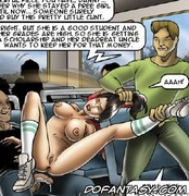 Free bdsm comics. Poor slave ass fucked by the students in the school bus!