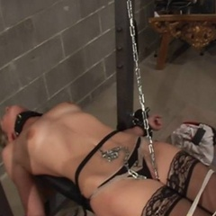 All tied up in the cellar waiting for the - Unique Bondage - Pic 4