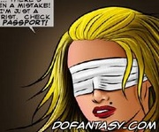 Sado cartoons. Tied and blindfolded girl gets beaten!