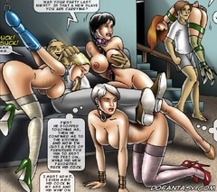 Slave cartoons. Was your party last night? Is that a new slave you are carrying?