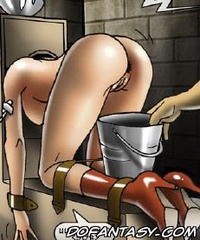 Free bdsm comics. Innocent girl stuck in a box with spikes.
