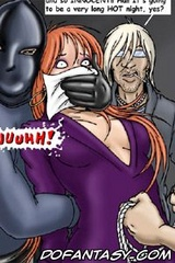 Horror comics. A masked man abducted seksulnuyu Man, it is now waiting for a long, hot night!
