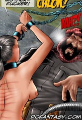 Slave girl comics. The girl who fucks and held captive a month ran away, but how long ...?