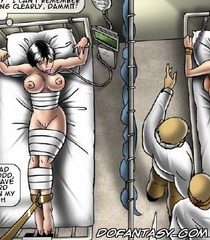 Submission comics. The patient was strapped to a bed and handcuffed ...