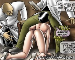 Horror comics. Beautiful brunette bursting with desire trahatsya it sderaet off all my clothes!