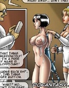 Slave cartoons. Dr cumed in the chest and face of her patient.