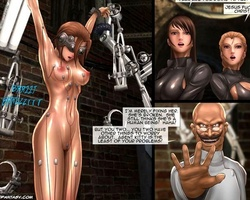 Two lovely agents captured by mad - BDSM Art Collection - Pic 2
