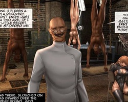 Cruel mad scientist forced his slave - BDSM Art Collection - Pic 1