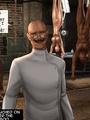 Cruel mad scientist forced his slave - Picture 1