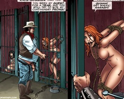 Busty redhead tied babe gets her tight - BDSM Art Collection - Pic 1