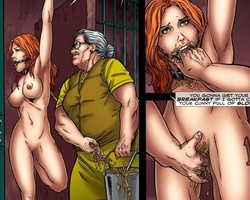 Poor hanged upside down blonde hottie - BDSM Art Collection - Pic 4