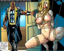 Bigboobed gagballed blonde babe gets - BDSM Art Collection - Pic 1