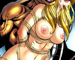 Bigboobed gagballed blonde babe gets - BDSM Art Collection - Pic 3
