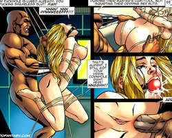 Bigboobed gagballed blonde babe gets - BDSM Art Collection - Pic 4