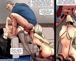 Horny guy fucks his wife in his office - BDSM Art Collection - Pic 4