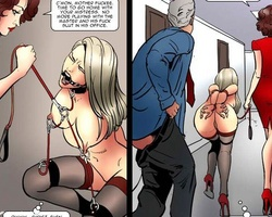 Horny guy fucks his wife in his office - BDSM Art Collection - Pic 5