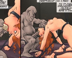 Tied up redhead cute slave forced to - BDSM Art Collection - Pic 1