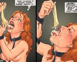 Tied up redhead cute slave forced to - BDSM Art Collection - Pic 5