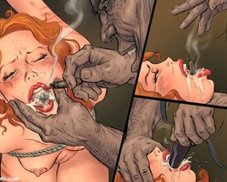 Tied up redhead cute slave forced to - BDSM Art Collection - Pic 6