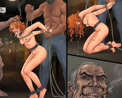 Poor tied up enslaved cutie forced to - BDSM Art Collection - Pic 3