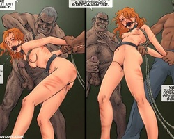 Poor tied up enslaved cutie forced to - BDSM Art Collection - Pic 4