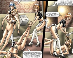 Two poor slave chicks are chained to - BDSM Art Collection - Pic 6
