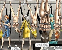 Naked enslaved cuties used as - BDSM Art Collection - Pic 5