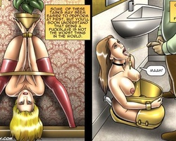 Poor slave babes used as urinal and bed - BDSM Art Collection - Pic 3