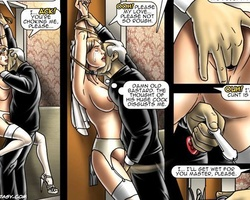 Leashed busty slave bride gets her - BDSM Art Collection - Pic 3