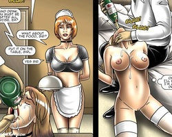 Sexy shaped slave chambermaid gives an - BDSM Art Collection - Pic 2