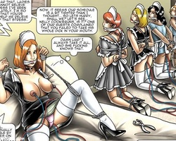 Three slave girls on the high heels - BDSM Art Collection - Pic 3