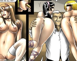 Three slave girls on the high heels - BDSM Art Collection - Pic 5