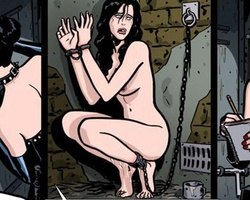 Chaned to the wall redhead enslabed - BDSM Art Collection - Pic 2