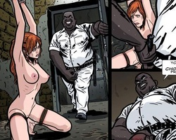 Chaned to the wall redhead enslabed - BDSM Art Collection - Pic 3