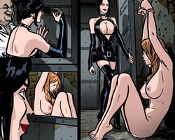 Chaned to the wall redhead enslabed - BDSM Art Collection - Pic 4