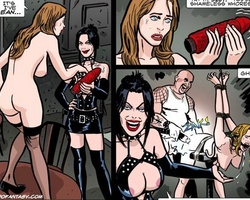 Slim brunette babe forced to strip in - BDSM Art Collection - Pic 4