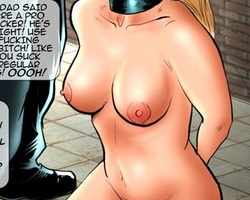 Poor blonde girl forced to take a huge - BDSM Art Collection - Pic 5
