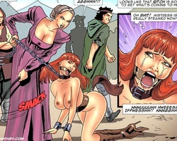 Busty redhead slave chick gets her - BDSM Art Collection - Pic 1
