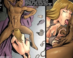 Blonde slave beauty licking and sucking - BDSM Art Collection - Pic 6