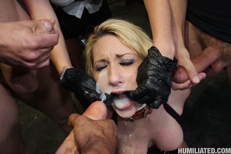Dirty slut disgraced with monster cumshots! - Unique Bondage - Pic 3