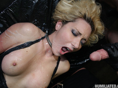 Dirty slut disgraced with monster cumshots! - Unique Bondage - Pic 6