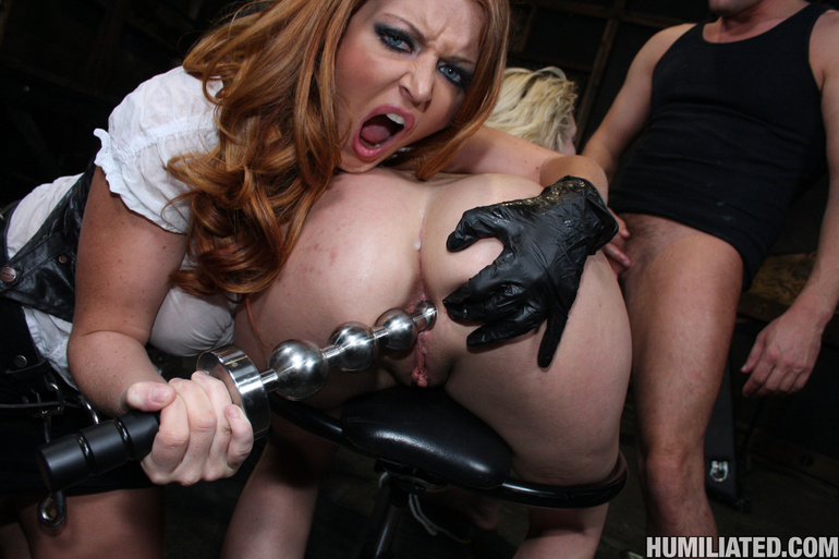 Dirty slut disgraced with monster cumshots! - Unique Bondage - Pic 11