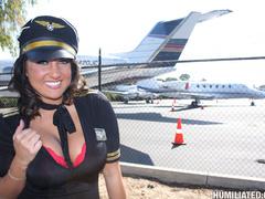 Stewardess gets disgraced and creampied! - Unique Bondage - Pic 5