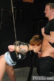 Brutally flogged bitch - Unique Bondage - Pic 4
