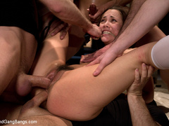 Kristina Rose in her FIRST GANGBANG - Unique Bondage - Pic 12