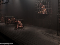 Amber gets fucked by a group of men. - Unique Bondage - Pic 2