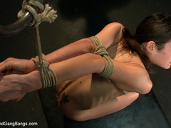 Amber gets fucked by a group of men. - Unique Bondage - Pic 9