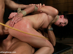 Elise Graves finds herself locked in a - Unique Bondage - Pic 10